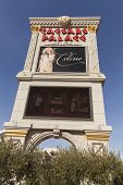 Celine Dion On The Caesars Palace Sign In Las Vegas, Nv On February 22, 2013