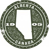 Vintage Style Alberta Canada Stamp