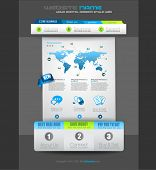 Quality clean web elements for blog and sites. Icons, header, carousel, infographics and a lot of icons.