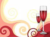 Illustration Of Glasses Of Wine