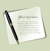 Vector background with paper, luxury pen and place for text