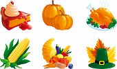 set of icon for thanksgiving