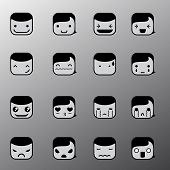 Simple Emotion Face Symbols