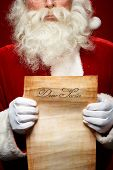 stock photo of christmas claus  - Close - JPG