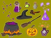 Illustration Featuring Famous Halloween Icons