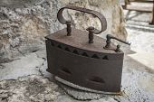 Classic Old And Rusty Woodfired Iron