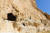 Cliff dwelling of the ancient Pueblo indians at Bandelier National Park