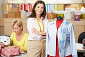 stock photo of dress-making  - Women In Dress Making Class - JPG
