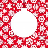 Christmas Background With Snowflakes.vector