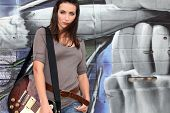 Trendy female guitarist