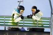 Two Girls On Chairlift