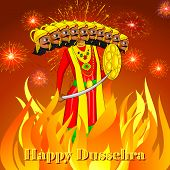 Ravana burning in Dussehre