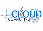 An image of a cloud computing text cloud