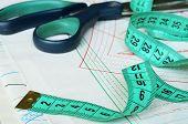 Measuring Tape And Scissors