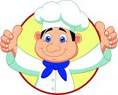 Chef cartoon with thumb up