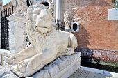 Lion Sculpture In Venecia, Italy