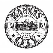 Kansas City grunge rubber stamp