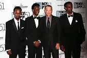 NEW YORK-SEP 27: (l-r) Barkhad Abdi, Mahat M. Ali, Tom Hanks & Faysal Ahmed attend the New York Film