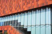Facade of a museum
