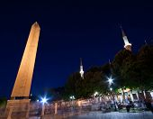 Obelisk And The Blue Mosque
