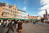 The Main Square Of Bruges, Belgium
