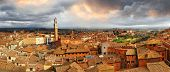 beautiful Siena,Italy.  panoramic image 180