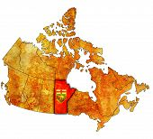 Manitoba On Map Of Canada