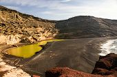 Green Lagoon On Lanzarote, Canary Islands, Spain