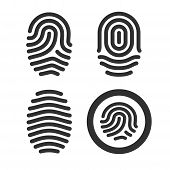 Fingerprint icons set.