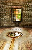 Fountain Pavilion Garden Alcazar Royal Palace Seville Spain