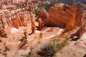 image of mayhem  - Thousands of delicately carved spires rise in brilliant color from the amphitheaters of Bryce Canyon National Park - JPG