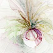 Gauzy Flow Abstract