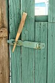 Wooden Hasp On The Gate