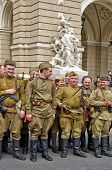 Odessa, Ukraine - April 10: Fragment Reconstruction Of Combat Events In 1944 Liberation Of Odessa