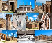 Collection Of Photos In Pompeii, Italy