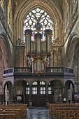 Brussels, Belgium-march 14:  Organ Instrument Of Gothic Church Notre Dame Du Sablon On March 14, 201