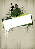 pic of paintball  - Abstract paintball or airsoft game invitation advert background with empty space - JPG