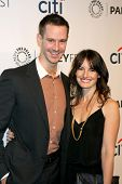 LOS ANGELES - MAR 13:  Jason Dohring , wife at the PaleyFEST Vernoica Mars Event at Dolby Theater on
