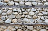 Detail Of Old Traditional House Wall From Bansko, Bulgaria