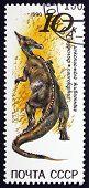 Postage Stamp Russia 1990 Saurolophus, Herbivorous Dinosaur