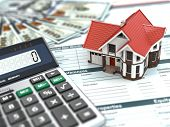 stock photo of three dimensional shape  - Mortgage calculator - JPG