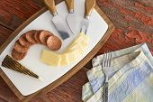 Manchego Cheese With Spicy Sausage