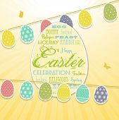 Easter Border Background And Bunting