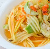 image of green papaya salad  - Thai Green Papaya Salad Also Known As Som Tum - JPG