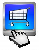 Shopping Button with cursor