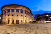 image of city hall  - Sheffield City Hall is a Grade II listed building in Sheffield England containing several venues ranging from the Oval Concert Hall to a ballroom - JPG
