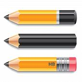 Three Pencils Vector Illustration