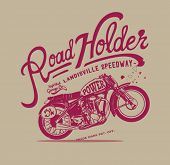 Vintage retro illustration typography t-shirt printing motor wing with wording for apparel 5