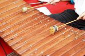 Xylophone A Local Thai Music Instrument.