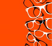 pattern retro hipster sunglasses. vector abstract background